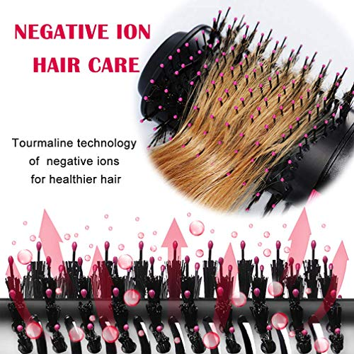 YJF Hot Air Brush One Step Hair Dryer & Volumizer 3-in-1 Electric Hair Blow Dryer & Styler Negative Ionic Salon Straightening Brush and Curly Hair Comb by YJF (Image #3)