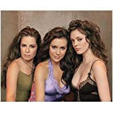Charmed 8x10 Photo Alyssa Milano/Phoebe Halliwell, Holly Marie Combs/Piper Halliwell, Rose McGowan/Paige Matthews Sexy Green/Purple/Black Tops Lots of Hair kn