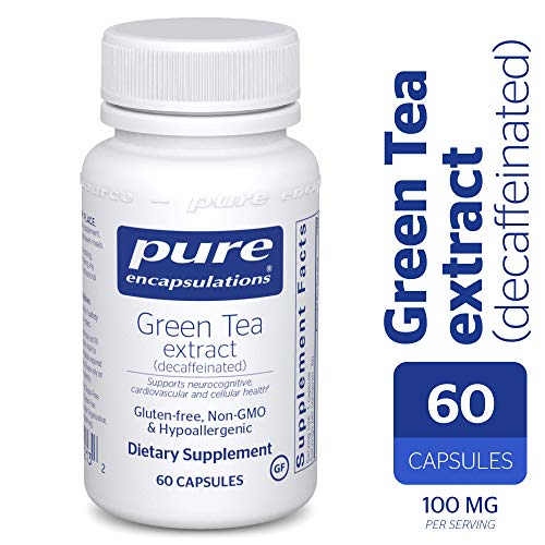 - Green Tea Extract - Decaffeinated - Hypoallergenic Antioxidant Support for All Cells in The Body* - 60 Capsules ()