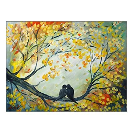 Fashion Love Birds Paintings Painting Canvas Print 16 X 12 Modern Canvas Art Wall Decor Landscape Oil Painting Wall Art Wall Decor Home Decorations