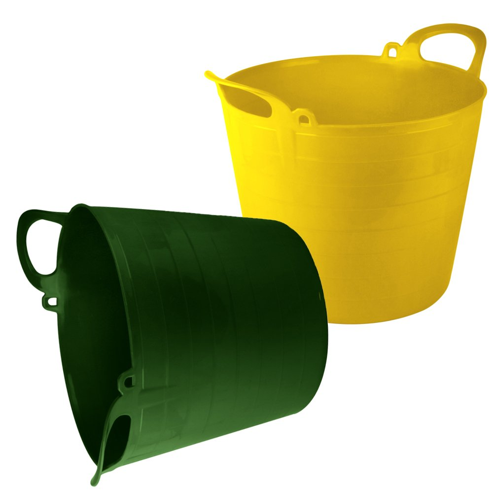 STRONG FLEXIBLE BUCKET EQUESTRIAN HORSE FEED HOME STORAGE RUBBER GARDEN WAT