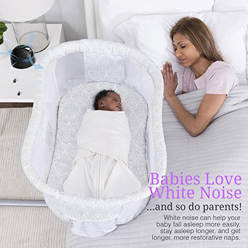SilverOnyx White Noise Machine For Sleep, Natural Soothing Sound Machine will Give Adults, Kids or Baby the Best Sleep, Portable Fan Based White Noise Generator for Travel, Home or Office – (Black)