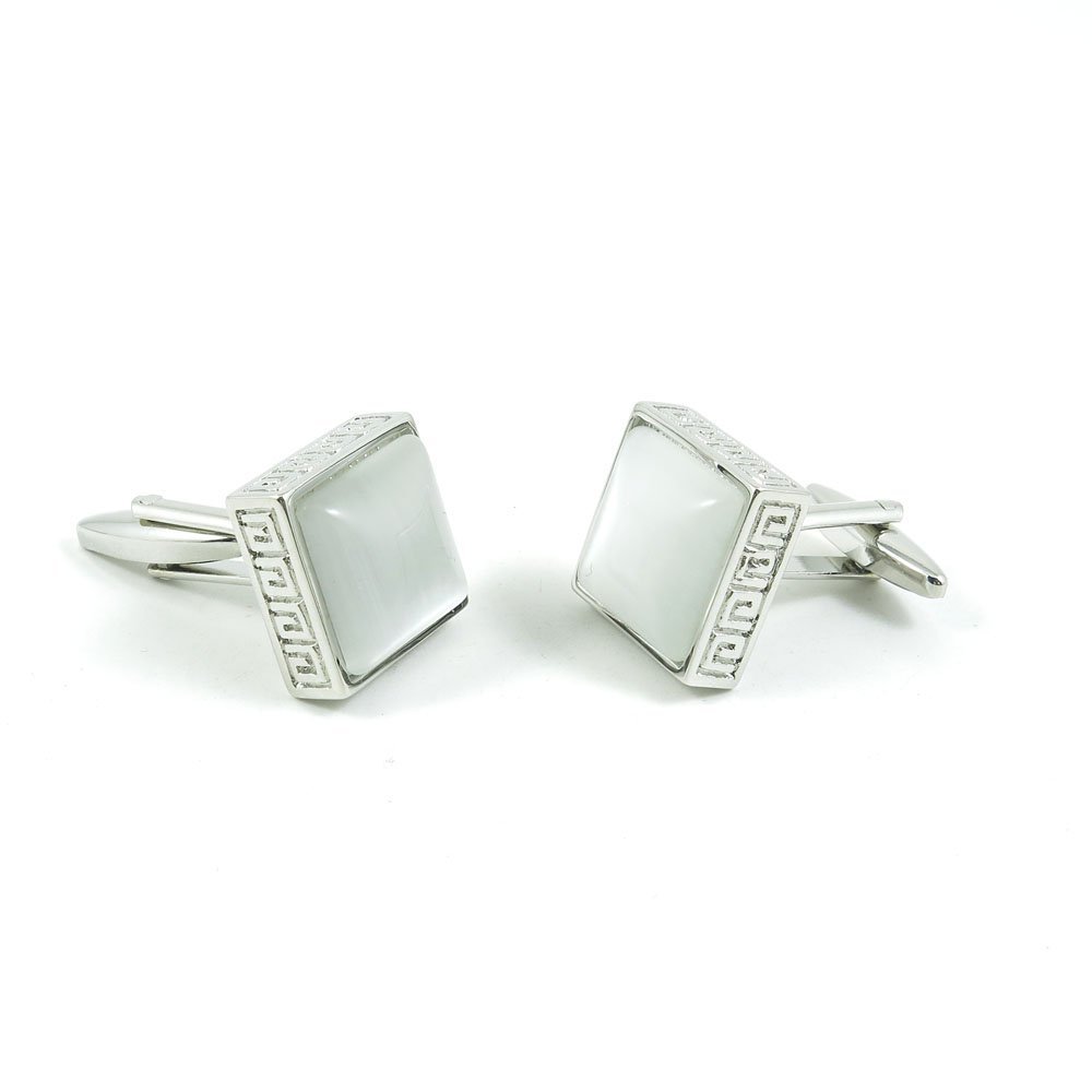 50 Pairs Cufflinks Cuff Links Fashion Mens Boys Jewelry Wedding Party Favors Gift UQP007 Opal Square