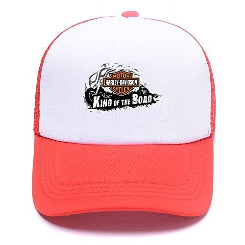 For béisbol Red Men Girl Trucker Baseball Gorras Black Mesh Boy Cap de Women Caps D Harley Hat 005 4YxUqwCBPH