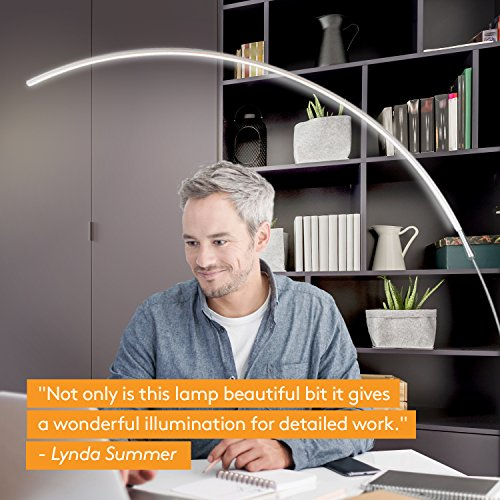 Brightech – Sparq Arc LED Floor Lamp – Curved ...
