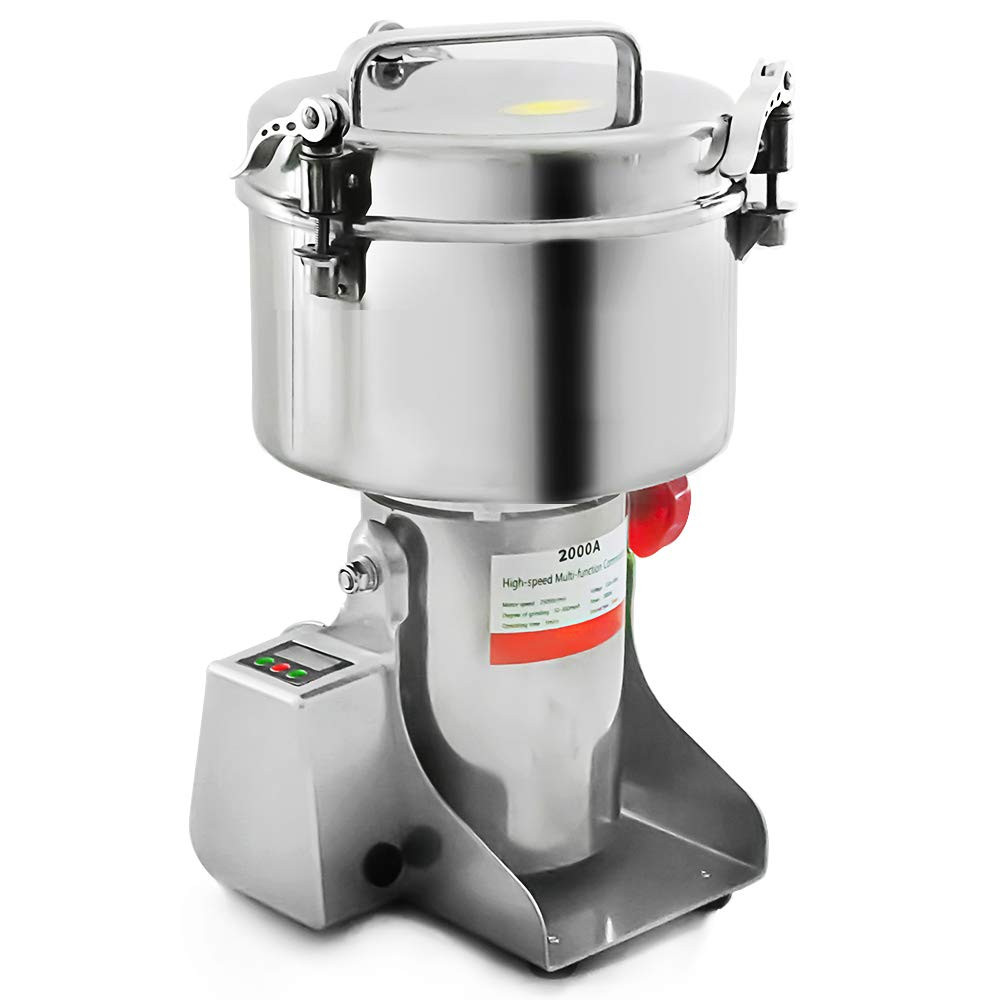 Marada 2000g Pulverizer Grinding Machine Stainless Steel 25000 r/min Pulverizer Machine for Kitchen Herb Spice Pepper Coffee Powder Grinder (2000g) by Marada (Image #1)