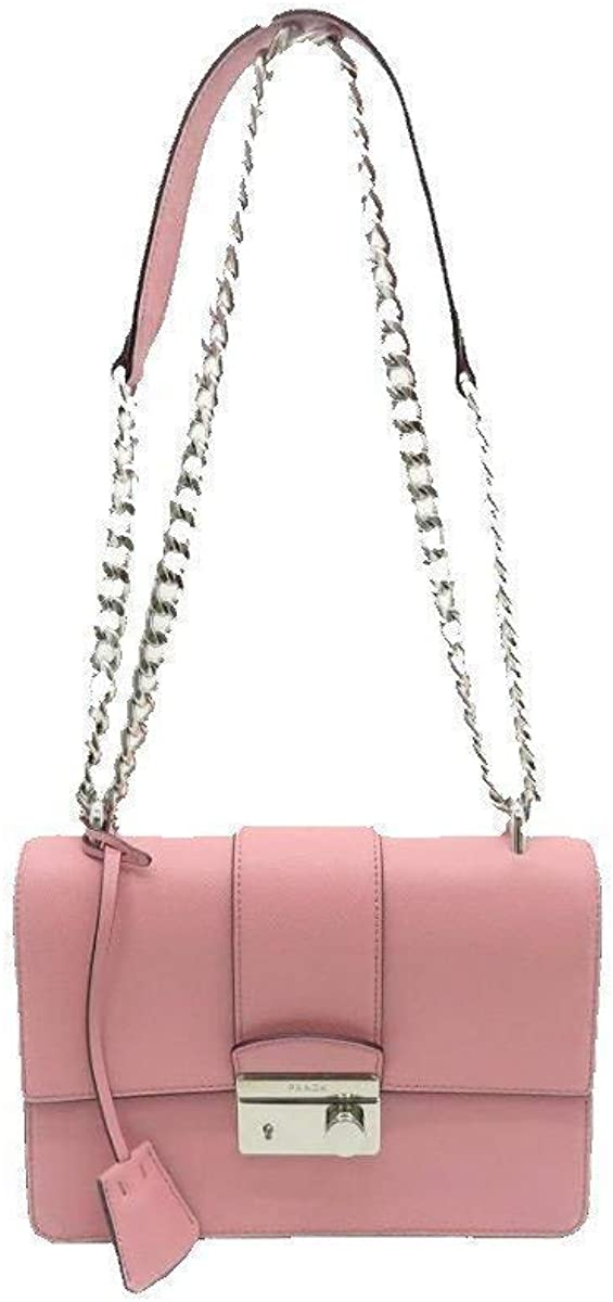 Prada Women's Petal Pink Saffiano Leather Cross Body Handbag 1BD034
