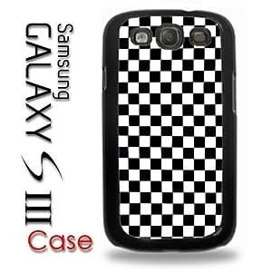 Samsung Galaxy S3 Plastic Case - Black and White Checkers Checkerboard Pattern