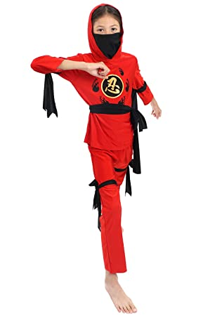 CoolChange Disfraz de Ninja para niños, Talla: 130: Amazon ...