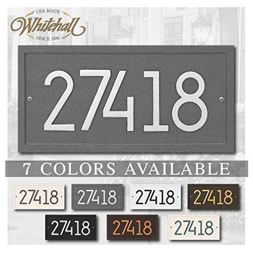 Metal Address Plaque Personalized Cast The Modern Rectangle. Display Your Address. Custom House Number Sign.