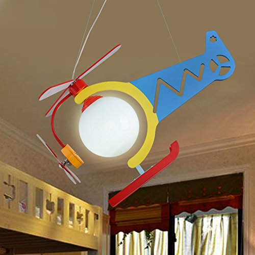 Children's toys airplane chandeliers boys rooms LED girls cartoon bedrooms lovely children's clothing stores lighti ZA ET6 lo11 ( Size : Colorful ) by WINZSC