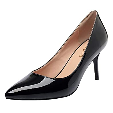 265a549cb4f4 MAYPIE Low Heels Pumps Womens Dress Shoes Classic Closed Pointed Toe 3  Inches