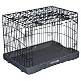 Pet Gear Travel Lite Steel Crate for Cats and Dogs up to 30-Pounds 27-Inch Black