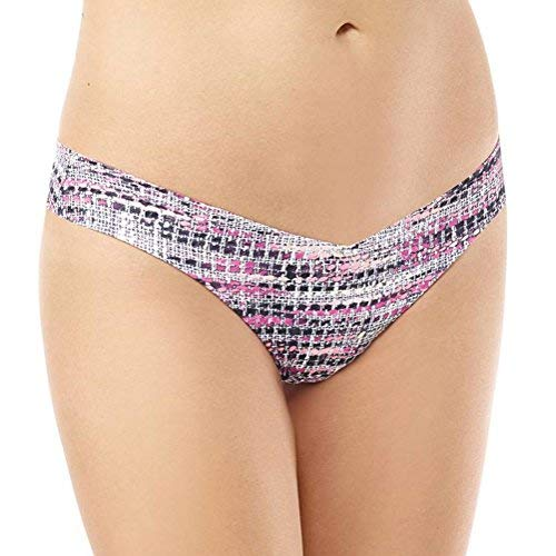 commando Women's Classic Printed Thong, Pink Tweed, m/l
