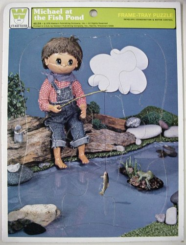 Whitman company frame tray puzzle michael at the fish for Michael koi pond
