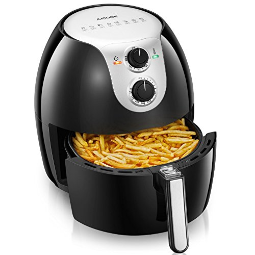 Cheap Air Fryer, Aicook 5.8Qt Large Air Fryer, 8-in-1 Programmable Electric Oilless Air Fryer for Good Taste, Crisp, Healthy Foods, with Non Stick Fry Basket, Easy to Clean, Safe Auto Shut off Feature
