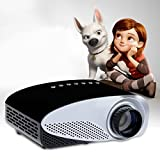 iToobe i8 LED Mini Portable Pocket Multimedia Home Cinema Theater Video Projector Support 1080P with HDMI/USB/AV/SD/VGA Input for Movies Games Music Home Theater Entertainment (Black)