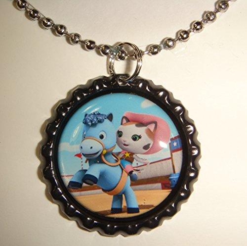 - 1 Sheriff Callie Black Bottle Cap Pendant Necklace #8
