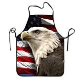 Bald Eagle Adjustable Apron For Kitchen BBQ Barbecue Cooking Women's Men's Great Gift For Wife Ladies Men Boyfriend