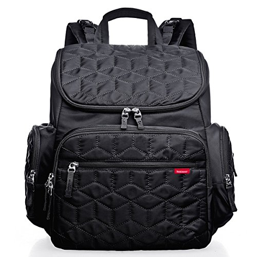Bebamour Large Capacity Diaper Bag Baby Backpack with Str...