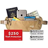 RFID Money Belt by PEAK - Exclusive offer with $250 Theft Protection and LIMITED TIME BONUS 2x FREE Global Lost & Found Tags