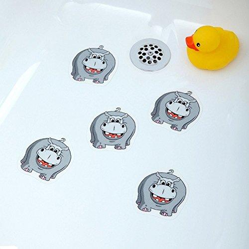 [Hippo] Bathtub Stickers Safety Decals Treads Non Slip An...