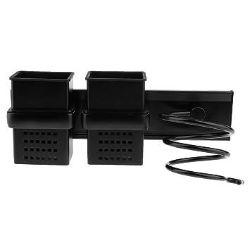 non-brand Sharplace Estante de Almacenaje Soporte de Secador de Pelo Porta Rack Display - Negro: Amazon.es: Hogar