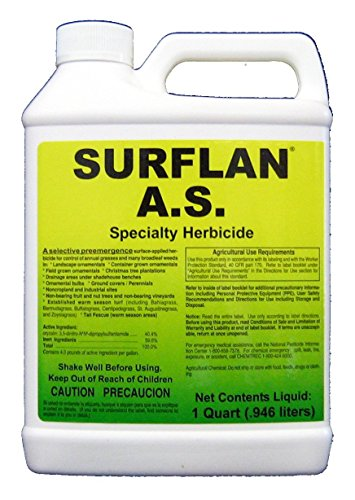 Southern Ag Surflan A.S. Specialty Herbicide Pre-Emergent Herbicide with Oryzalin, 32oz – 1 Quart by Southern Ag