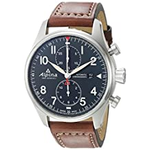 Alpina Men's AL-725N4S6 STARTIMER PILOT Analog Display Automatic Self Wind Brown Watch
