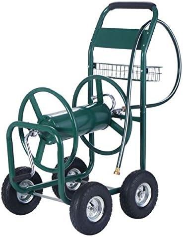 Nueva 300 M carrete de manguera de agua carro de jardín patio césped resistente la plantación de almacenamiento portátil ruedas w/cesta: Amazon.es: Jardín