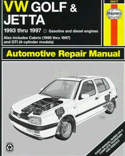 [Best] Haynes Volkswagen Golf and Jetta (93-98) Manual (96017)<br />[K.I.N.D.L.E]