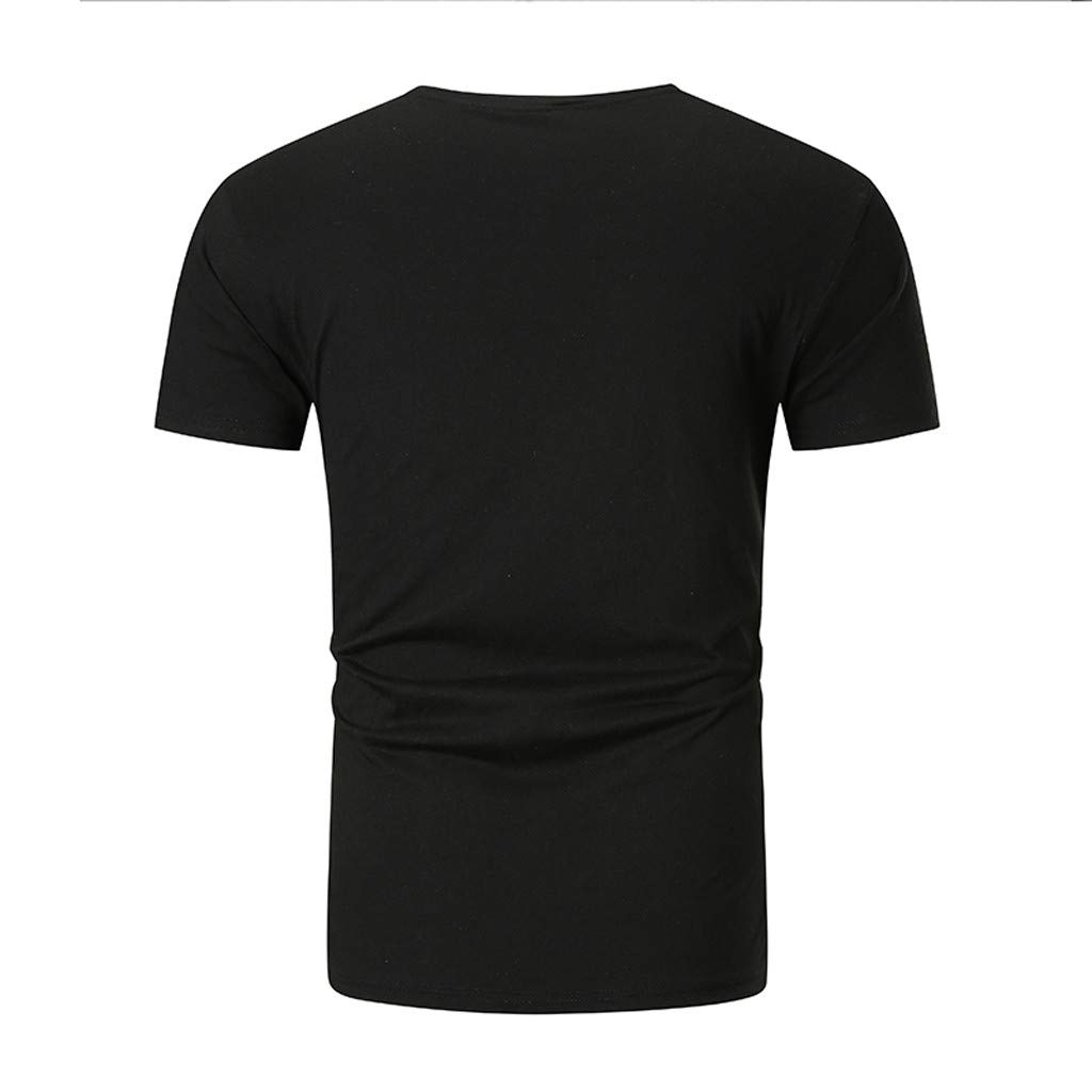 Short Sleeve Shirt-Imakcc Mens Pure Color Pattern Casual Cool Print Fashion Lapel