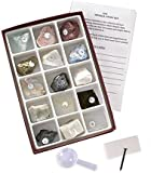 Mineral Study Kit Set Rocks with Streak Plate and Guide