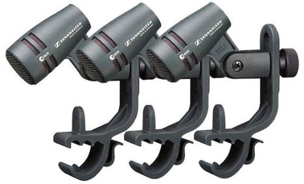 Sennheiser E604 Dynamic Cardioid Instrument Microphone Kit, 3-Pack E6043PK