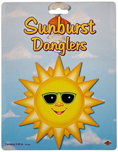 Beistle 50790 2 Pieces Sunburst Danglers, 30 Inch