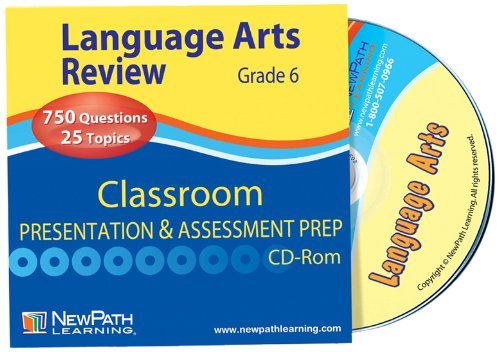 NewPath Learning Language Arts Interactive Whiteboard CD-ROM, Site License, Grade 6