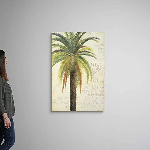 Palms and Scrolls II Canvas Wall Art Print