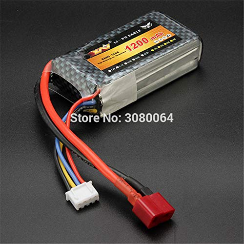 - Yoton Accessories RC Battery 11.1V 1200mAh 25C 3S 11.1Volt RC LiPo Li-Poly Battery for Helicopters Quadcopter RC Drone