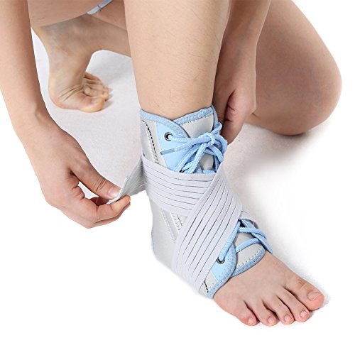 Ankle Support Braces, Ankle Brace with Stabilizer Straps-Adjustable Ankle Stabilizer for Volleyball Basketball and Plantar Fasciitis, Pain Relief