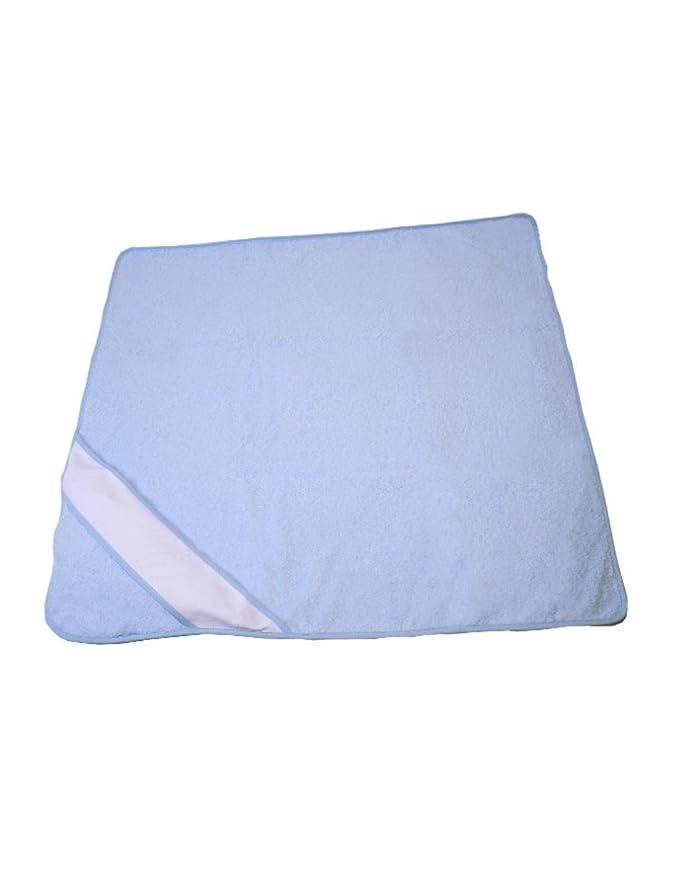 PURALGO-puro algodón. Toalla para bebés de punto de cruz, con gorrito. (rosa)