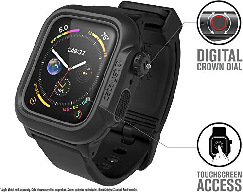 pretty nice 59d02 2db08 Catalyst Waterproof for Apple Watch Case Series 4 44mm with Premium ...