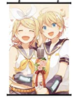 Vocaloid Anime Wall Scroll Poster Kagamine Rin Kagamine Len (16''*24'')support Customized by Forti