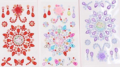 (Rhinestones Stickers - LeBeila Self-Adhesive Gems Sticker Craft Decorative Crystal Jewels Stickers Bling Flatback Rhinestone Gem Stick Sheets for Crafts, Kids, Scrapbook, Phone (3pcs, Multicolor) )