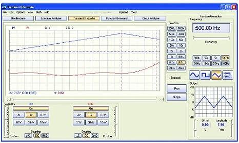 Velleman PCSGU250 osciloscopio Mesa PC-based oscilloscope 12 MHz - Osciloscopios (Mesa, PC-based oscilloscope, Amplitude, Fast Fourier transform (FFT), Frecuencia, 12 MHz, 2 canales, 8 bit): Amazon.es: Bricolaje y herramientas