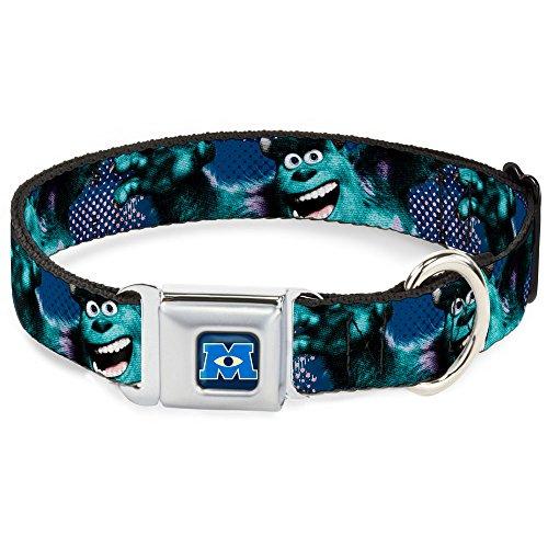Buckle-Down DC-WDY123-WL DYDH Monsters University Logo Full Color Blue/White Dog Collar, - University Town 6 Center