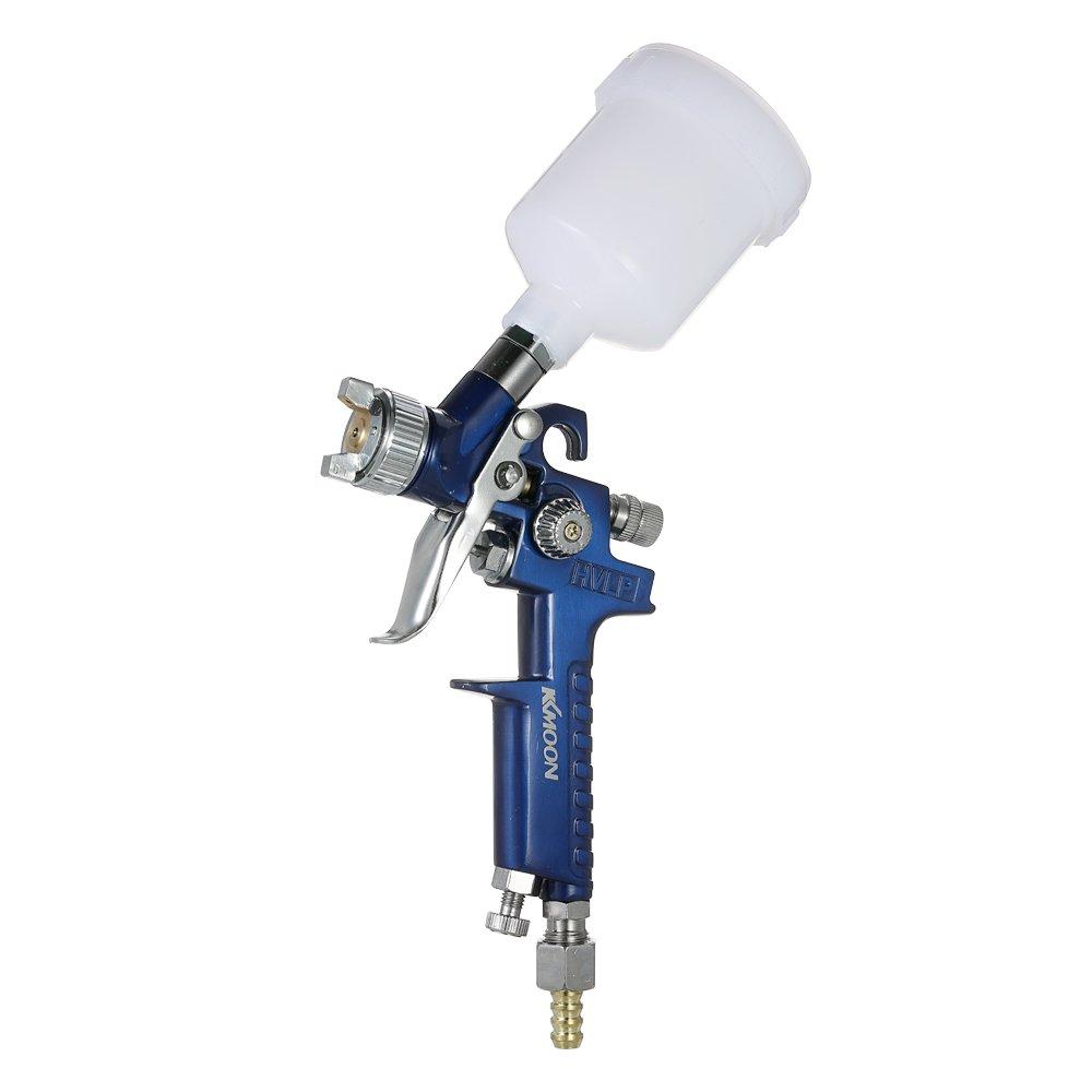 KKmoon Mini HVLP Kit de aeró grafo Pistola de reparació n de Aceite de Cuero Pistola de reparació n 0.8mm / 1.0mm (Tipo1)