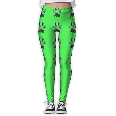 Fri Dog Paw Base Layer Compression Pants/Yoga Pants Baselayer Pants Women Girl Thermal
