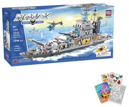 Brictek Giant Battleship Cruiser Set 1745 Pcs Building