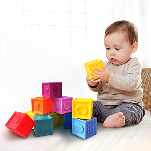 Joso Squeeze Block - Toddlers Teething Chewing Stack Blocks