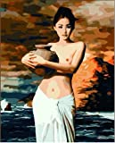 Diy oil painting, paint by number kit- Pottery female 16*20 inch. by Holdfound [並行輸入品]